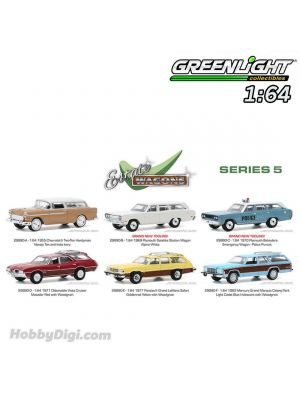 Greenlight 1:64 套裝合金車 - Estate Wagons Series 5 Assortment