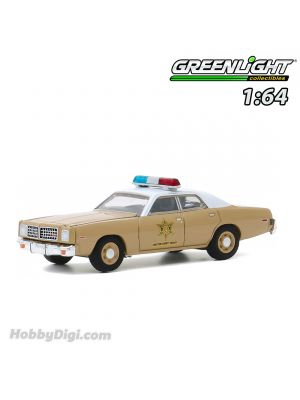 Greenlight 1:64 Diecast Model Car - 1975 Dodge Coronet - Choctaw County Sheriff (Hobby Exclusive)