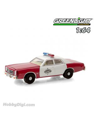 Greenlight 1:64 Diecast Model Car - 1977 Dodge Monaco - Finchburg County Sheriff (Hobby Exclusive)