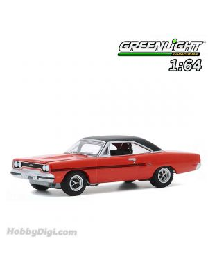 Greenlight 1:64 Diecast Model Car - Hollywood Series 29 - The Mod Squad (1968-73 TV Series) - 1970 Plymouth GTX Solid Pack