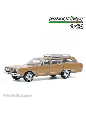 Greenlight 1:64 Diecast Model Car - Hollywood Series 29 - The Brady Bunch (1969-74 TV Series) - Carol Brady's 1969 Plymouth Satellite Station Wagon Solid Pack