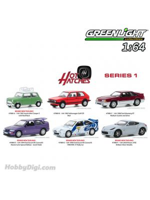 Greenlight 1:64 套裝合金車 - Hot Hatches Series 1 Assortment