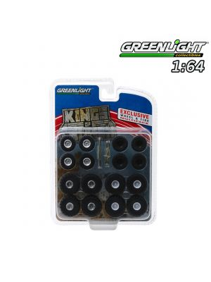 Greenlight 1:64 配件 - Kings of Crunch Wheel & Tire Pack - 16 Wheels, 16 Tires, 8 Axles (Hobby Exclusive)