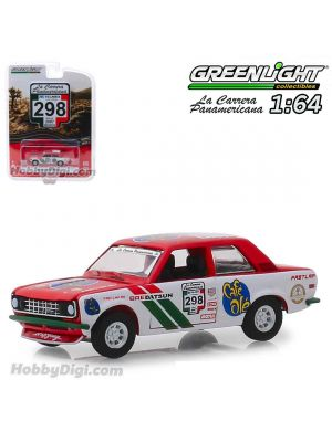 Greenlight 1:64 Diecast Model Car - #327 1974 Datsun 260 Z (La Carrera Panamericana 2016) S1