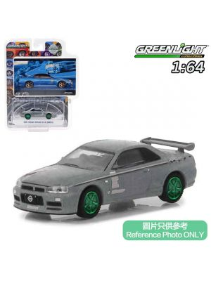 Greenlight 1:64 Limited Diecast Model Car - 2001 Nissan Skyline GT-R R34 Track Meat (BFGoodrich Vintage Ad Cars)