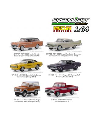 Greenlight 1:64 套裝合金車 - Mecum Auctions S3 Assortment