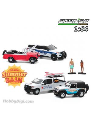 Greenlight 1:64 合金車場景套裝 - Multi-Car Dioramas - Marco Island, Florida Summer Bash 一套4架