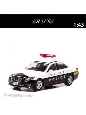 HIKO7 RAI'S 1:43 合金車 - Toyota Crown Royal (GRS210) 2019 Osaka Police Mobile police and other units G20 Osaka Summit 特別警戒車両 (204)