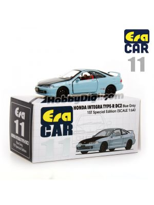 Era Car 1:64 Diecast Model Car11 - HONDA INTEGRA TYPE-R DC2 – Blue Gray (1st Special Edition)