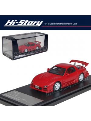 Hi-Story 1:43 手工制造樹脂模型車 - Mazda RX-7 Mazdaspeed R-Spec 2000 Red