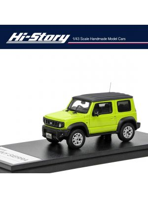 Hi-Story 1:43 手工制造樹脂模型車 - Suzuki Jumny Sierra JC (2018) Kinetic Yellow