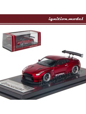 Ignition Model 1:64 限量版模型車 - Nissan PANDEM R35 GT-R Red Metallic
