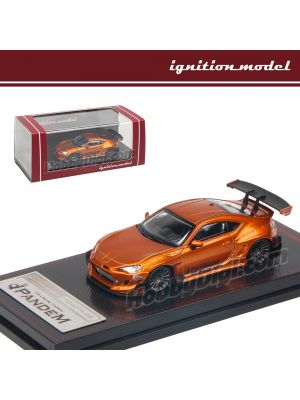 Ignition Model 1:64 限量版模型車 - PANDEM Toyota 86 V3 Orange Metallic