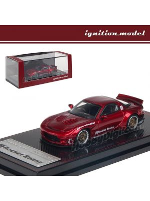 Ignition Model 1:64 Limited Diecast Model Car - Rocket Bunny Rx-7 (FD3S) Red Metallic