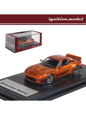 Ignition Model 1:64 Limited Diecast Model Car - Rocket Bunny Rx-7 (FD3S) Orange Metallic