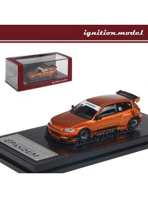 Ignition Model 1:64 限量版合金模型車 - PANDEM CIVIC (EG6) Orange Metallic