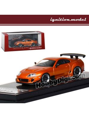 Ignition Model 1:64 Diecast Model Car - Toyota Supra (JZA80) RZ Orange Metallic