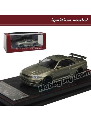 Ignition Model 1:64 Diecast Model Car -  Nismo R34 GT-R Z-tune Green Metallic