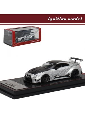 Ignition Model 1:64 模型車 - LB-Silhouette WORKS GT Nissan 35GT-RR Silver