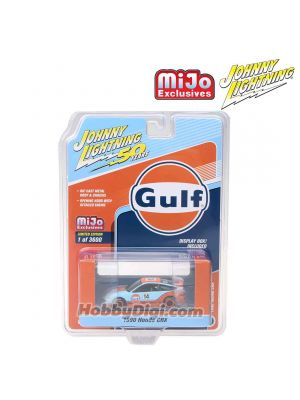 Johnny Lightning 1:64 MiJo Exclusives 合金車- 50th Anniversary - 1990 Honda CRX Light Blue & Orange