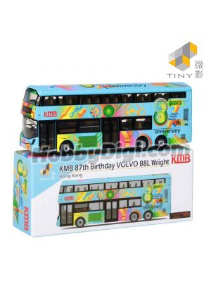 Tiny 微影 City 合金車仔 - KMB 87th Birthday VOLVO B8L Wright