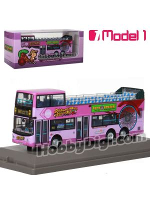 Model 1 1:76 Diecast Model Car- New World First Bus Dennis Trident 12m (Rickshaw Sightseeing Bus) - 1217 rt. H1 Heritage Route