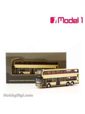Model 1 1:120 Diecast Model Car - ADL E500MMC Facelift 12.8m (Champagne Livery) - rt. 307 Tai Po Central