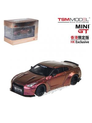 TSM 1:64 Mini GT Hong Kong Exclusive Diecast Model Car - LB Works Nissan GT-R R35 Type I Magic Bronze Ducktail