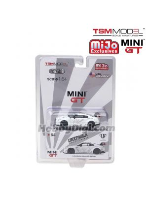 TSM 1:64 Mini GT X Mijo Exclusive Diecast Model Car - Liberty Walk LB Works Nissan GT-R (R35) (White) (USA Exclusive)