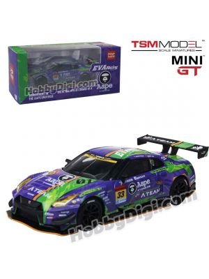 TSM MINI GT x POPRACE 1:64 限量版合金車 - EVA RT Test Type-01 X Works GT-R #33 SUPER GT GT300 2019