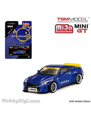 TSM 1:64 Mini GT X Mijo Exclusive 合金車 - Pandem Nissan GT-R R35 with Duck Tail (Velocity Blue)