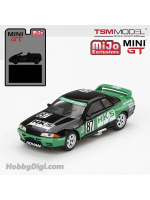 TSM 1:64 Mini GT X Mijo Exclusive 合金車 - Nissan GT-R R32 Nismo S Tune HKS (Green/Black) Limited Edition 1 of 1,200