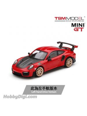 TSM 1:64 MINI GT Taiwan Exclusive Diecast Model Car - Porsche 911 (991) GT2 RS Guards Red (LHD)