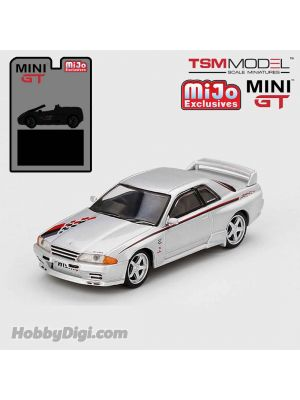 TSM 1:64 Mini GT X Mijo Exclusive 合金車 - Nissan GT-R R32 Nismo S Tune (Silver) Limited Edition 1 of 1,200