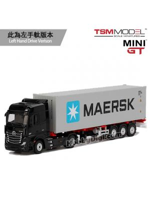TSM 1:64 Mini GT 合金車 - Mercedes-Benz Actros With 40 Ft Container