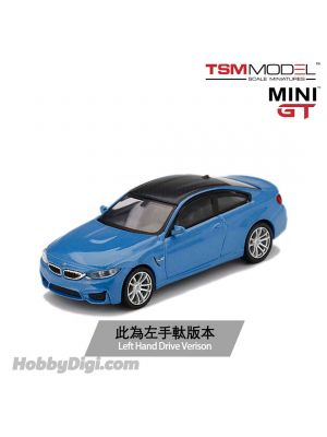 TSM 1:64 Mini GT Diecast Model Car - BMW M4 (F82) Yas Marina Blue Metallic (LHD)