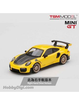TSM 1:64 Mini GT Diecast Model Car - Porsche 911 GT2 RS Racing Yellow (RHD)