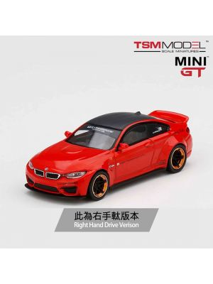 TSM 1:64 Mini GT 合金車 - LB★WORKS BMW M4 Red w/ Copper Wheel (右手軚)