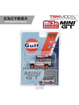 TSM 1:64 Mini GT X Mijo Exclusive Diecast Model Car - Land Rover Defender 110 GULF Livery (LHD)