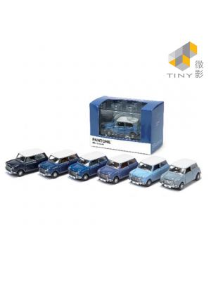 Tiny City Diecast Model Car - Mini Cooper X Pantone Set (Blue)