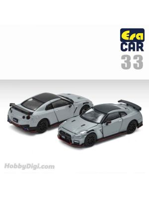 Era Car 1:64 Diecast Model Car - 33 Nissan GT-R (R35) Nismo 2020 Gray (1st Special Edition)