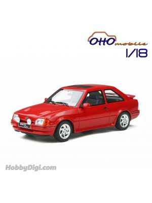 OttO Mobile 1:18 Resin Model Car - Ford Escort MK4 RS Turbo Red