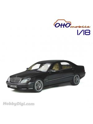 OttO Mobile 1:18 Resin Model Car - Mercedes Benz W220 S65 AMG Obsidian Black Metallic