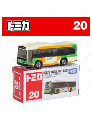 Tomica Diecast Model Car No20 - Isuzu ERGA Toei Bus