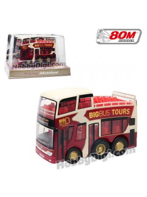 80M Q版巴士 - Big Bus Tours Half Open Top 7cm