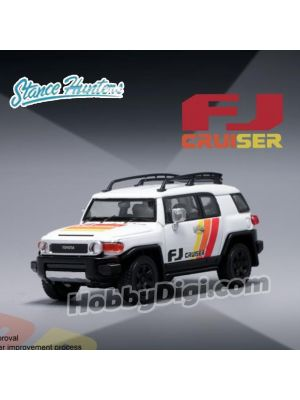 Stance Hunters SH 1:64 Diecast Model Car - Toyota FJ Cruiser XJ10 Southeast Asia Market Special Edition TRD Special Edition White (LHD)