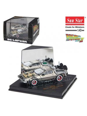 Sun Star 1:43 Diecast Model Car - Back to the Future Part III DeLorean Time Machine