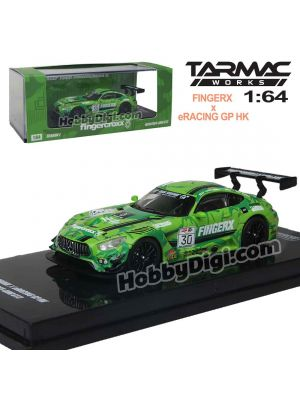 Tarmac Works HOBBY64 1:64 Diecast Model Car - Mercedes-AMG GT3 eRacing Grand Prix Hong Kong Fingercroxx