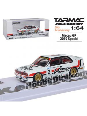 Tarmac Works 1:64 Limited Diecast Model Car - Macau GP 2019 BMW M3 E30 Macau Guia Race 1989 Emanuele Pirro