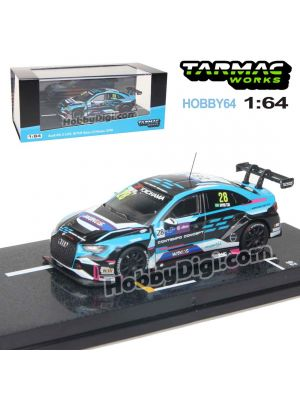 Tarmac Works HOBBY64 1:64 Diecast Model Car - Audi RS 3 LMS WTCR Race of Macau 2018 (Kevin Tse)